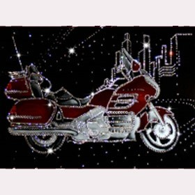 Картина с кристаллами Swarovski Мотоцикл