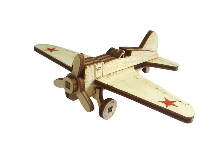 3D конструктор из дерева Советский истребитель И-16