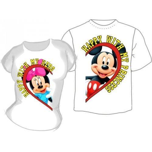 Парные футболки Микки и Мини