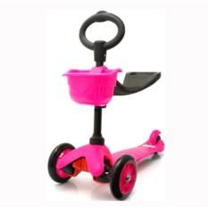 Розовый детский трехколесный самокат Scooter 506