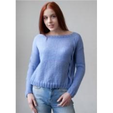 Широкий голубой свитер Косы