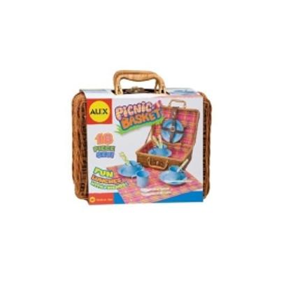Набор для пикника в корзине, 18 предметов