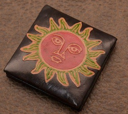 Монетница Socotra (Черный, солнце; тип 2; кожа)
