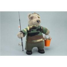 Авторская игрушка Медведь – рыбак
