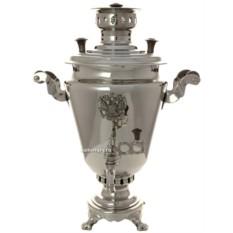 Угольный самовар 5 литров с накладным гербом РФ