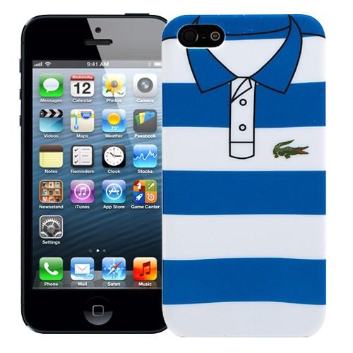Чехол для iPhone 5/5S Blue and white stripes