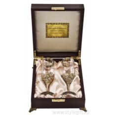 Набор из 2-х бокалов для шампанского Нежность
