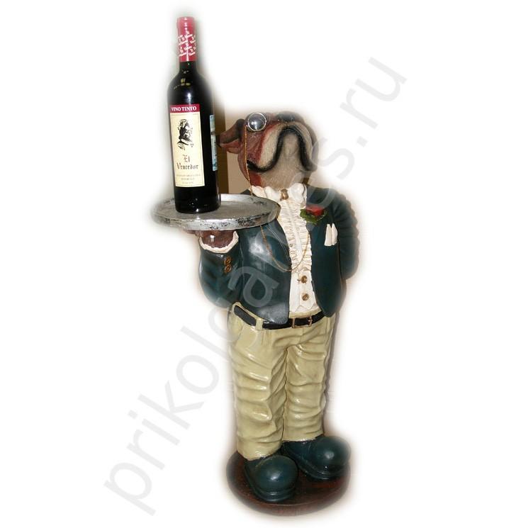 Подставка для бутылок Бульдог официант