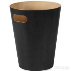 Черная корзина для мусора Woodrow