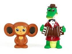 Набор игрушек для ванной Чебурашка и Крокодил Гена