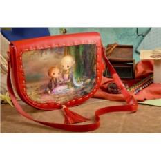 Женская сумка-седло Вечер в сказочном саду