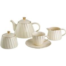 Чайный сервиз Плиссе на 6 персон