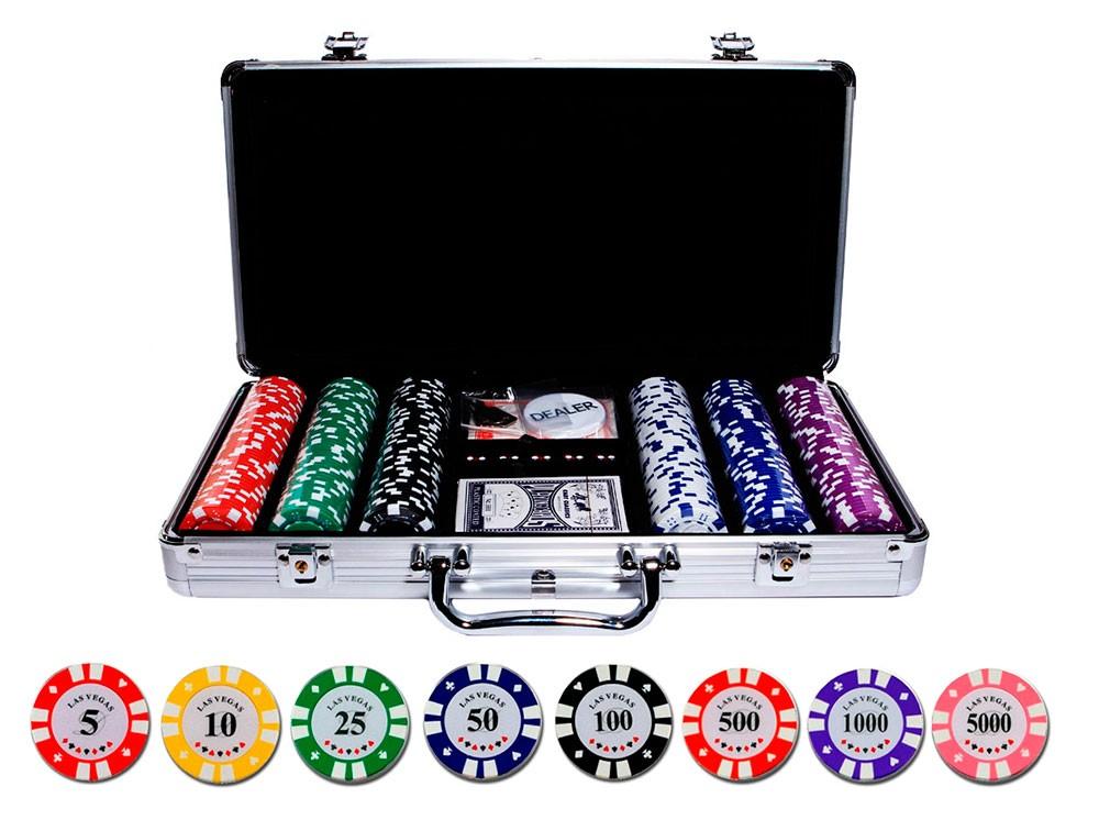 Набор для покера Vegas на 300 фишек в стальном кейсе
