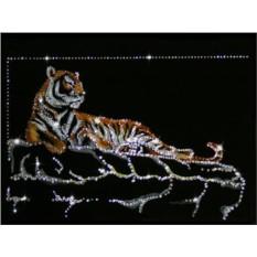 Картина с кристаллами Swarovski Тигр Шерхан