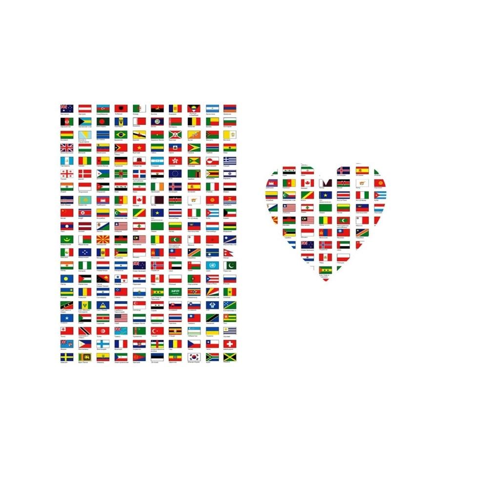 Красивая обложка для паспорта Flags