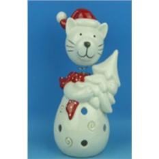 Новогодний сувенир Кот с ёлкой
