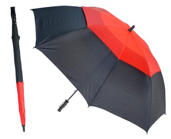 Механический противоштормовой зонт-трость Monsun, красный