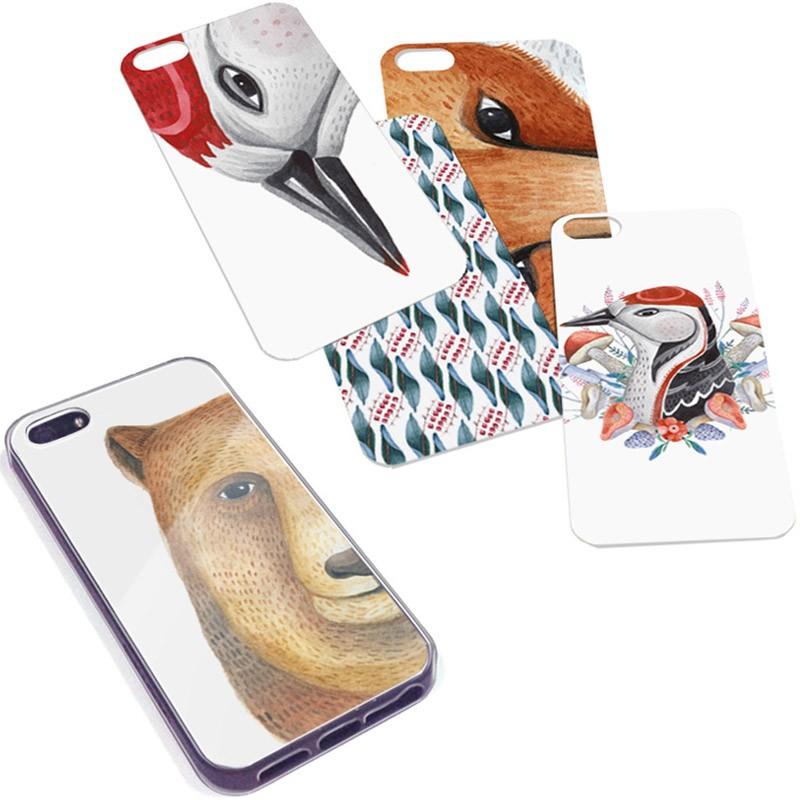 Чехол со сменными картинками для iPhone 5/5S Animal