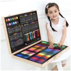 Набор для рисования в деревянном чемоданчике Art Set