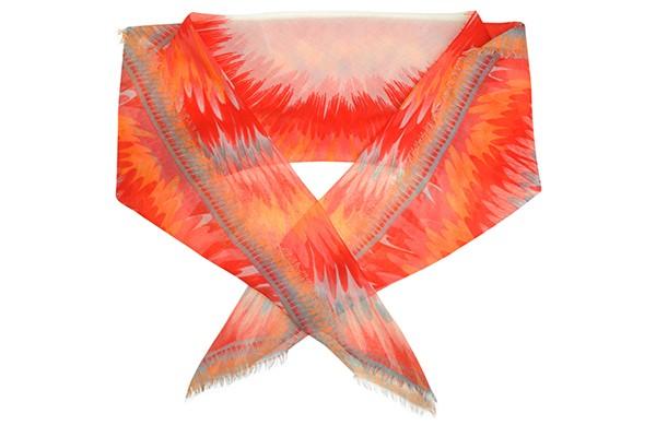 Красный женский платок Fabretti (вискоза)
