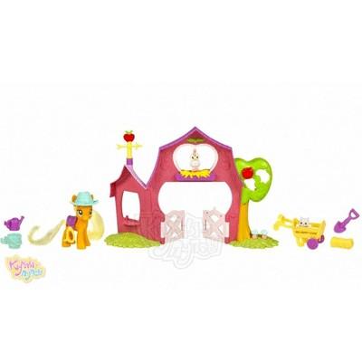 Игровой набор My Little Pony Пони Эпплджек с домиком
