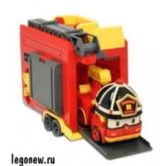 Трансформер Рой с кейсом и гаражом (Robocar)