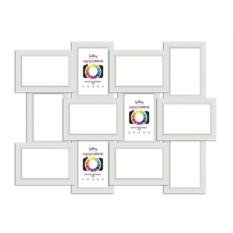 Белая мультифоторамка на 12 фото Gallery 10х15