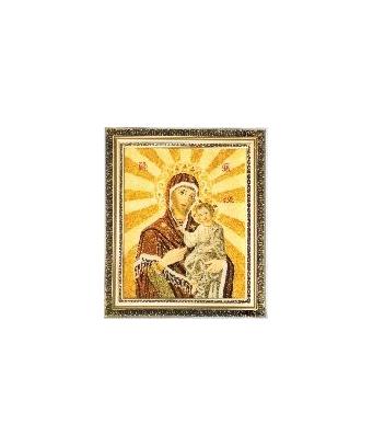 Икона из янтаря Пресвятая Божья Матерь Смоленская