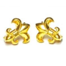 Серьги Лилии, золото 585