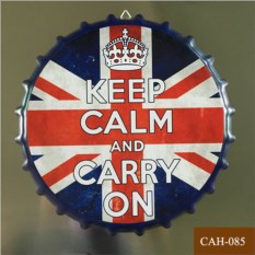 Декоративная пивная крышка Keep calm and carry on