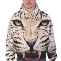 Мужская 3D толстовка Леопард