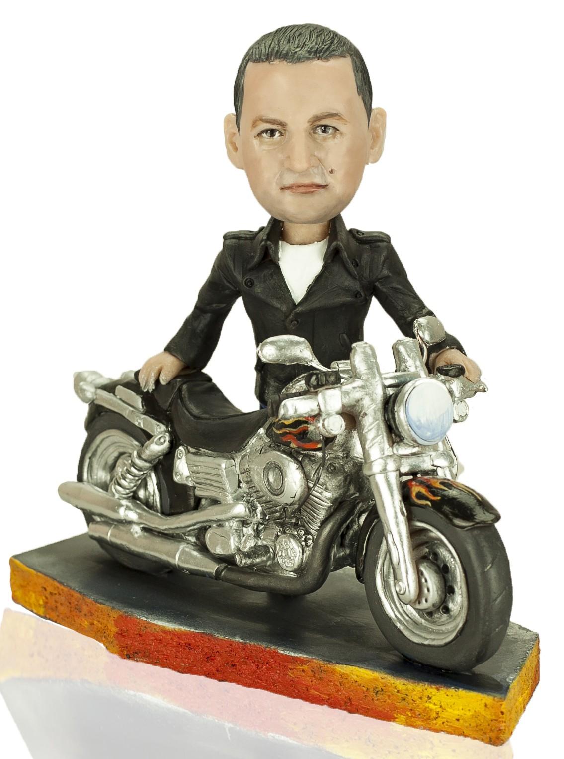 Кукла-шарж по фото Harley-Davidson
