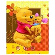 Картина-раскраска по номерам Винни и Кенга