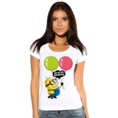 Женская футболка Миньон с воздушными шариками