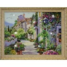 Большая картина с кристаллами Swarovski Цветущий город