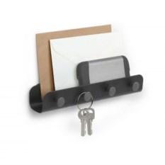 Черный держатель для ключей и писем Yook