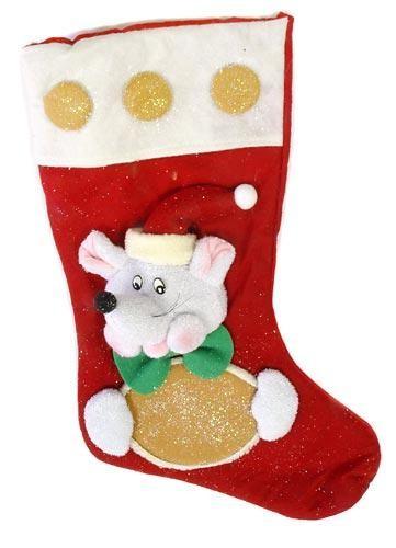 Носок новогодний для подарков Мышь