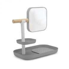Серый органайзер с зеркалом Vana