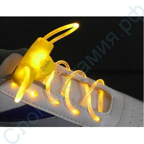 Светящиеся желтые LED шнурки