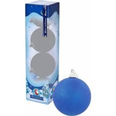 Набор синих елочных шаров