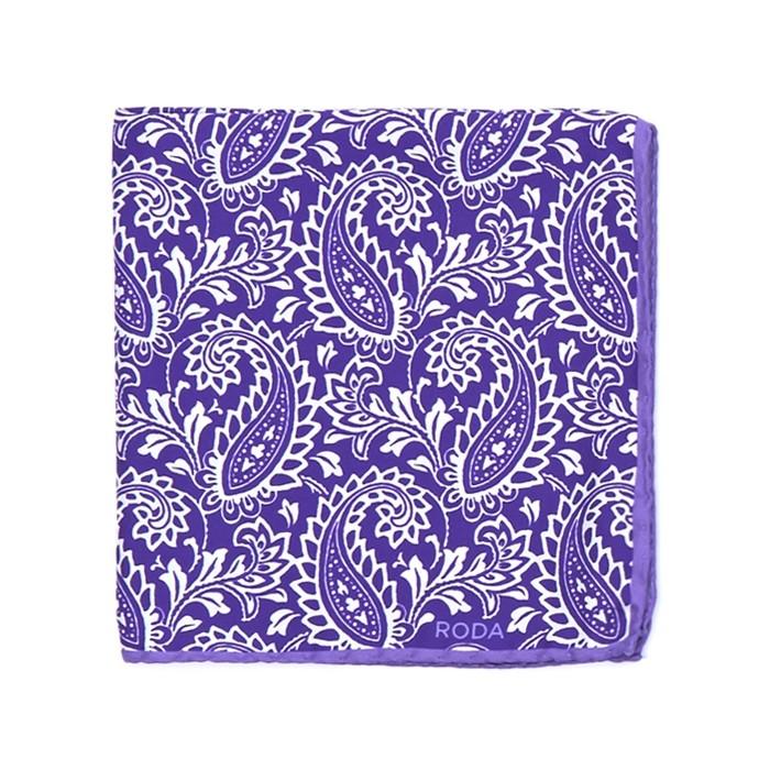 Платок Roda, paisley лиловый