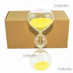 Песочные часы 10 минут с желтым песком