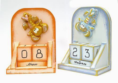 Вечный календарь - знак Зодиака Рак