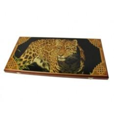 Нарды Леопард в деревянном коробе