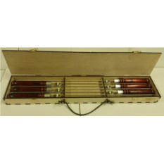 Набор профессиональных шампуров 620х13х2,5 мм(6 шт.)