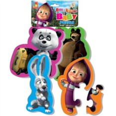 Мягкие пазлы Baby puzzle Маша и Медведь. Панда