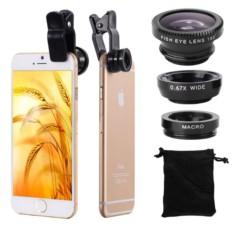 Объектив на клипсе 3 в 1 для iPhone и других телефонов