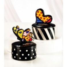 Керамическая шкатулка Britto коллекция Heart & Butterfly2