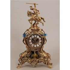 Часы из бронзы с маятником Всадник