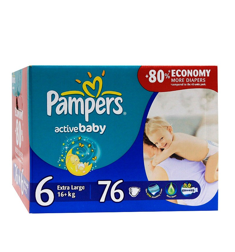 Подгузники Pampers Active Baby XL Giant (от 16 кг) 76 шт.